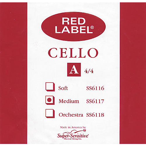 Super Sensitive Red Label Cello A String thumbnail