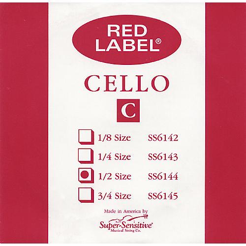 Super Sensitive Red Label Cello C String-thumbnail