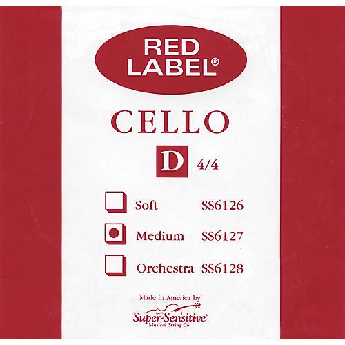 Super Sensitive Red Label Cello D String thumbnail