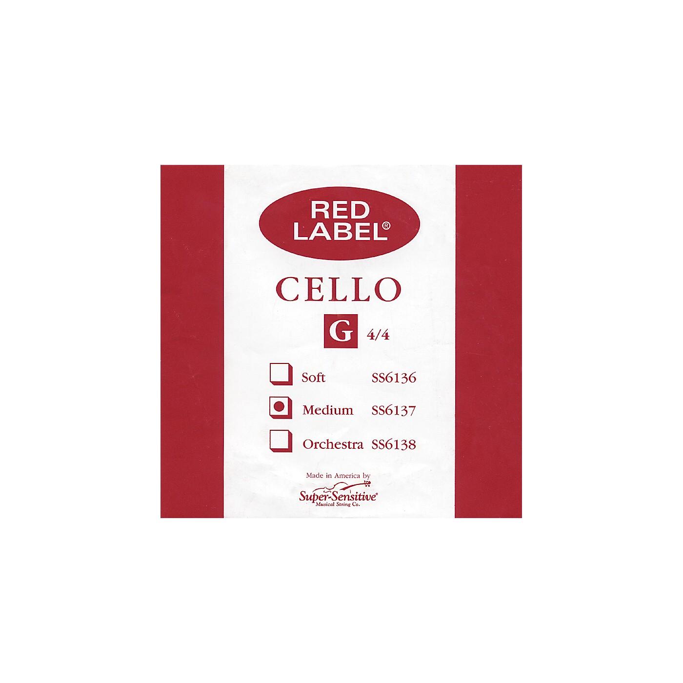 Super Sensitive Red Label Cello G String thumbnail