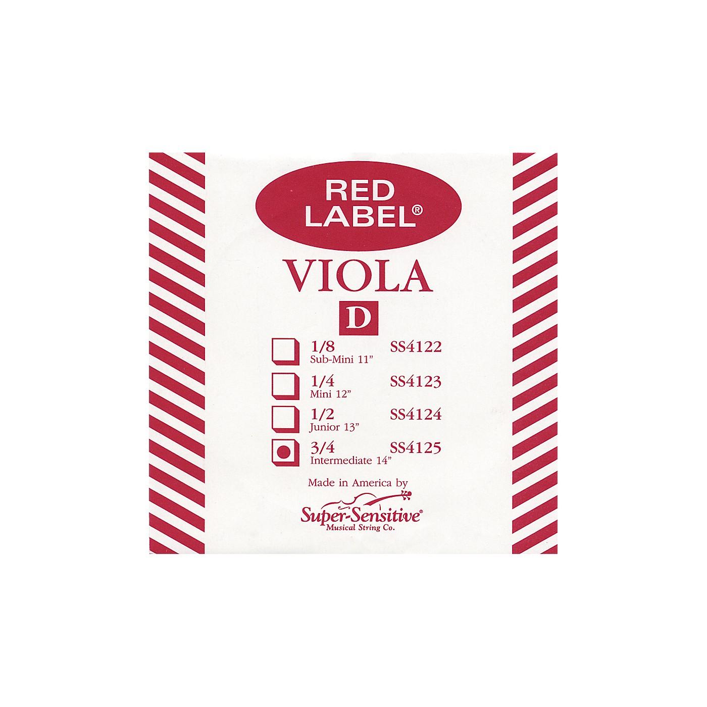 Super Sensitive Red Label Viola D String thumbnail
