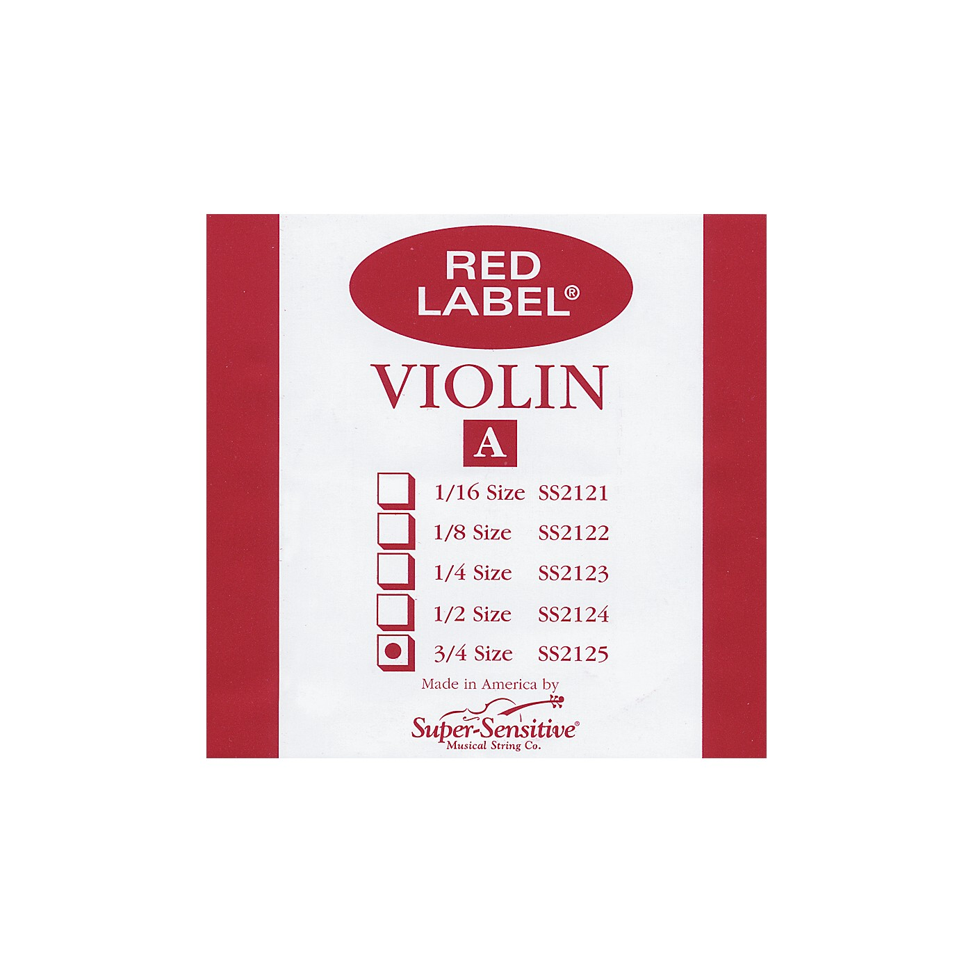 Super Sensitive Red Label Violin A String thumbnail