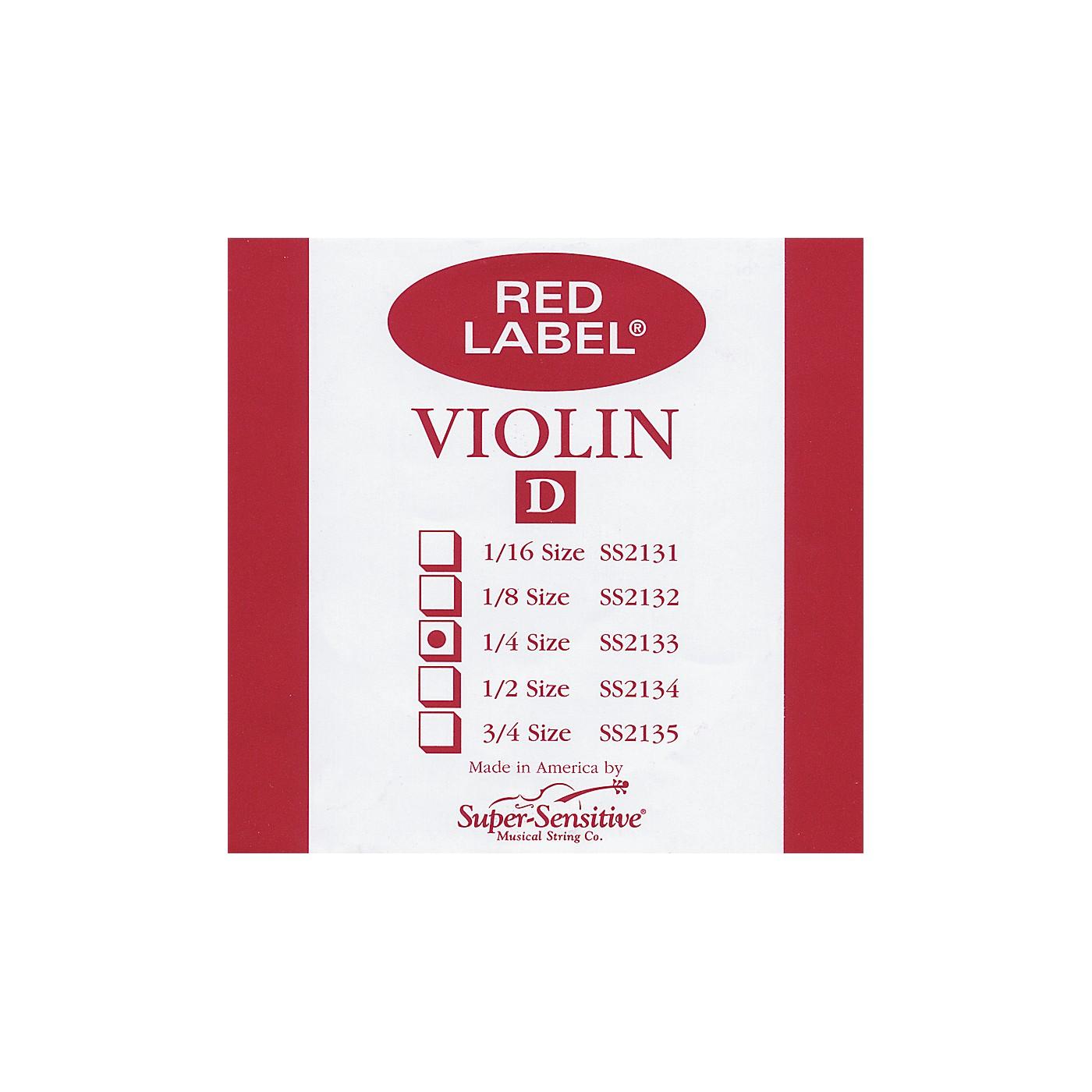 Super Sensitive Red Label Violin D String thumbnail