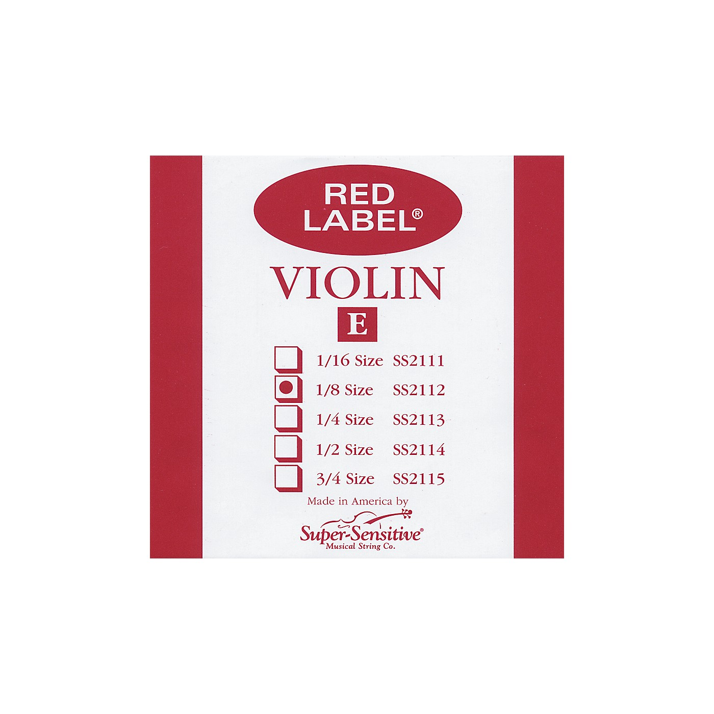 Super Sensitive Red Label Violin E String thumbnail
