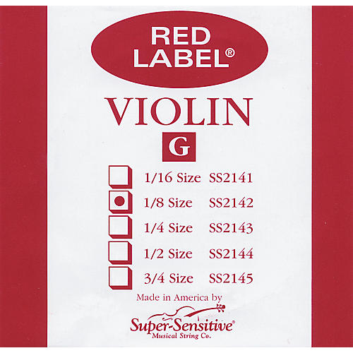 Super Sensitive Red Label Violin G String thumbnail