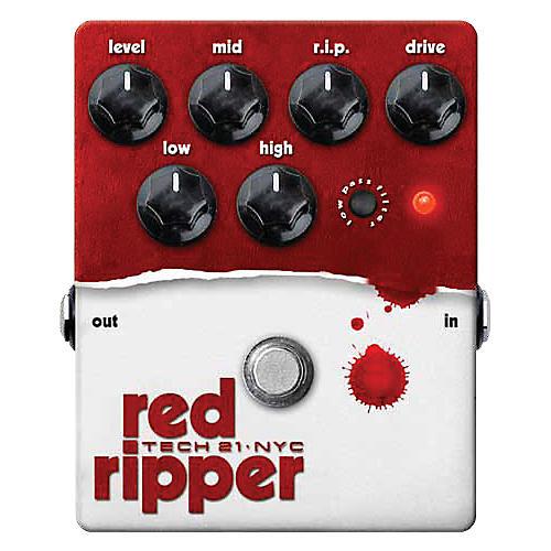 Tech 21 Red Ripper Distortion Bass Effects Pedal thumbnail