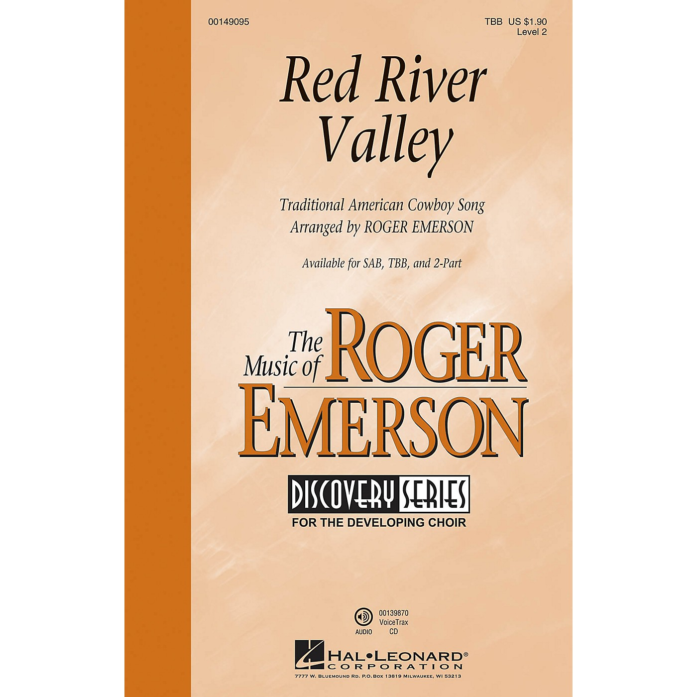 Hal Leonard Red River Valley (Discovery Level 2) TBB arranged by Roger Emerson thumbnail