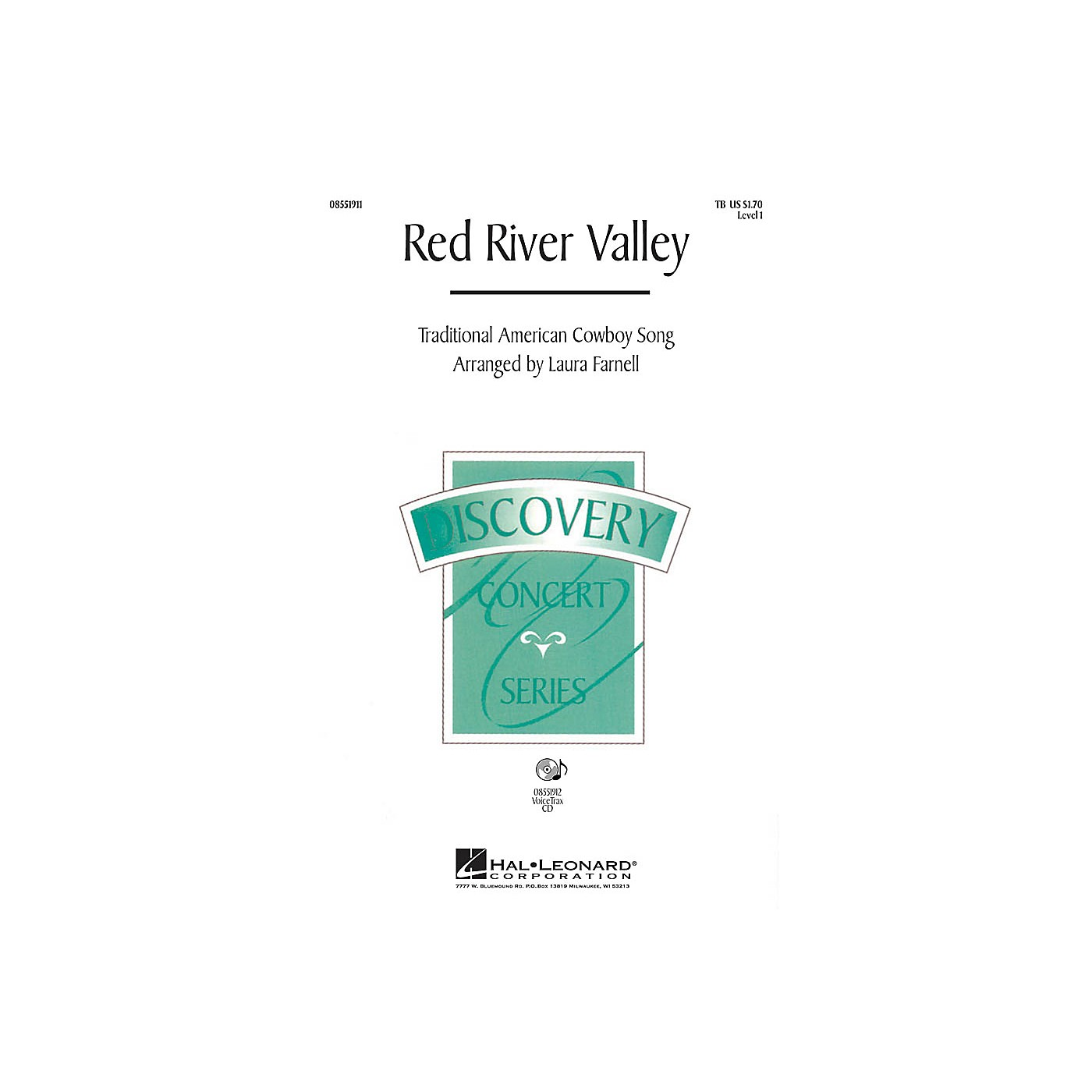 Hal Leonard Red River Valley VoiceTrax CD Arranged by Laura Farnell thumbnail