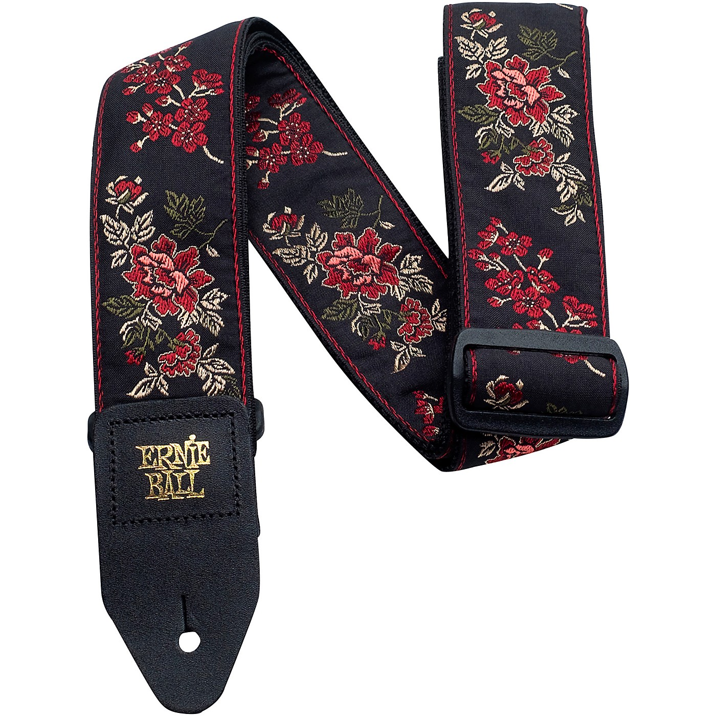 Ernie Ball Red Rose Jacquard Strap thumbnail