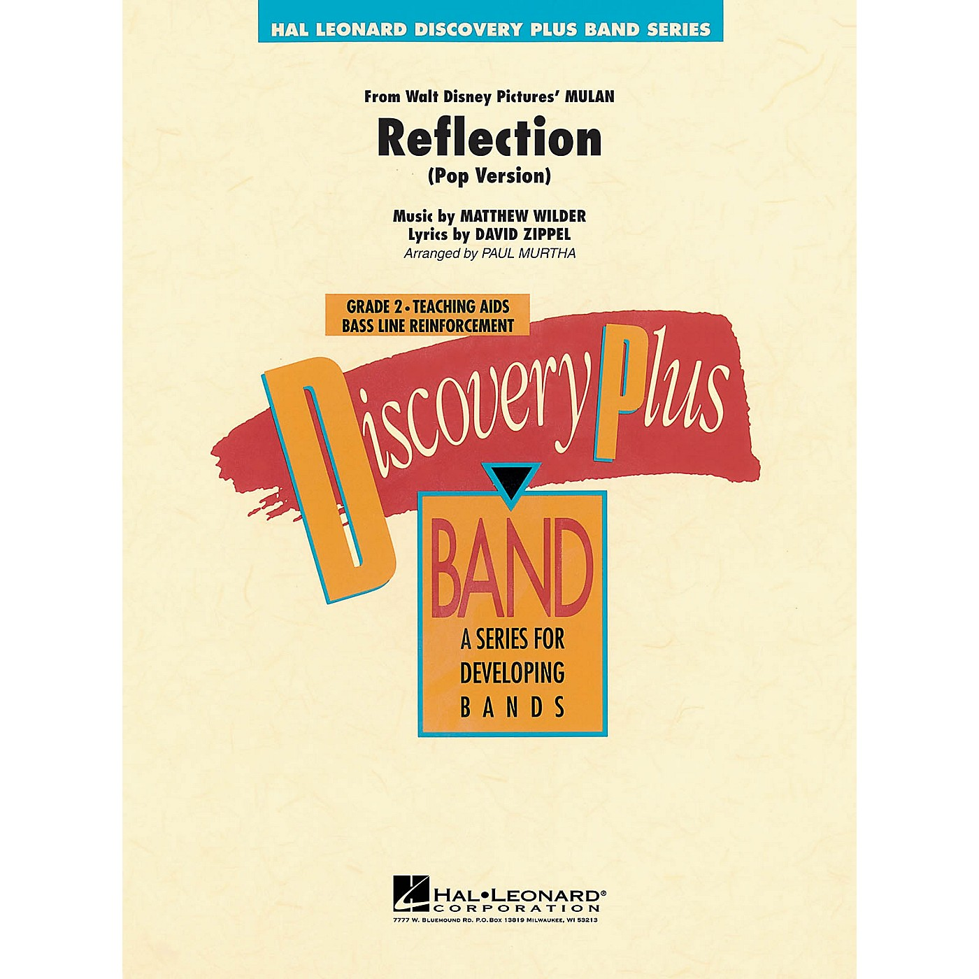 Hal Leonard Reflection (From Mulan) - Discovery Plus Concert Band Series Level 2 arranged by Paul Murtha thumbnail