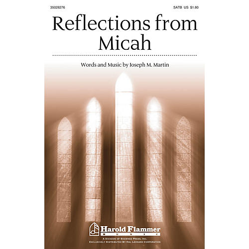Shawnee Press Reflections from Micah SATB composed by Joseph M. Martin thumbnail