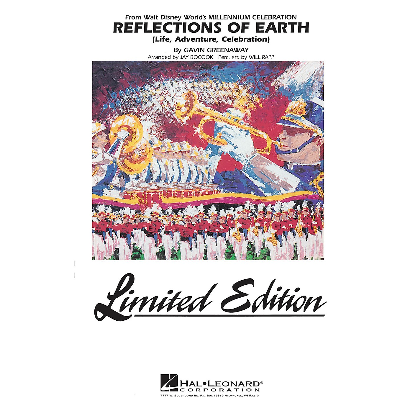Hal Leonard Reflections of Earth Marching Band Level 5 Arranged by Jay Bocook thumbnail