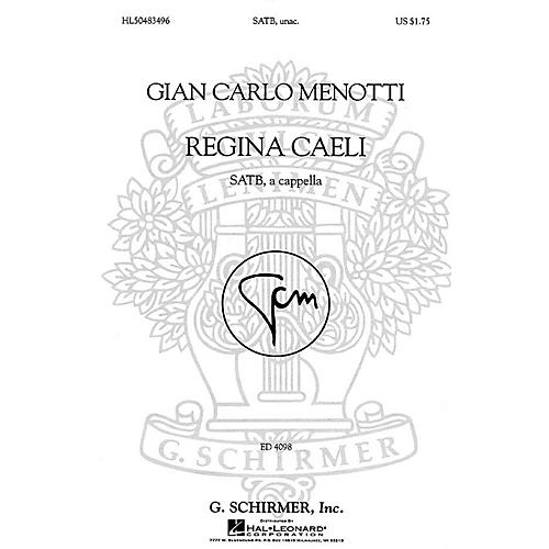 G. Schirmer Regina Caeli (SSAATTBB a cappella) SSAATTBB A Cappella composed by Gian-Carlo Menotti thumbnail