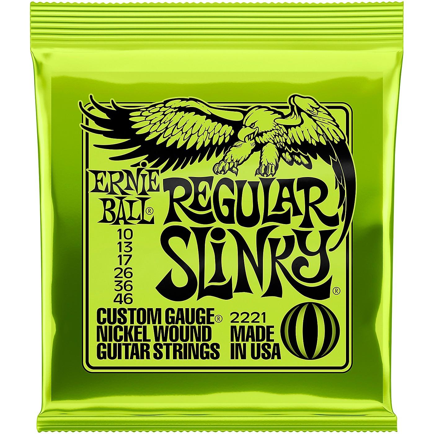 Ernie Ball Regular Slinky 2221 (10-46) Nickel Wound Electric Guitar Strings thumbnail