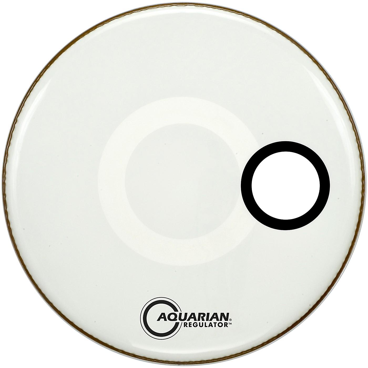 Aquarian Regulator Off-Set Hole Gloss White Bass Drum Head thumbnail