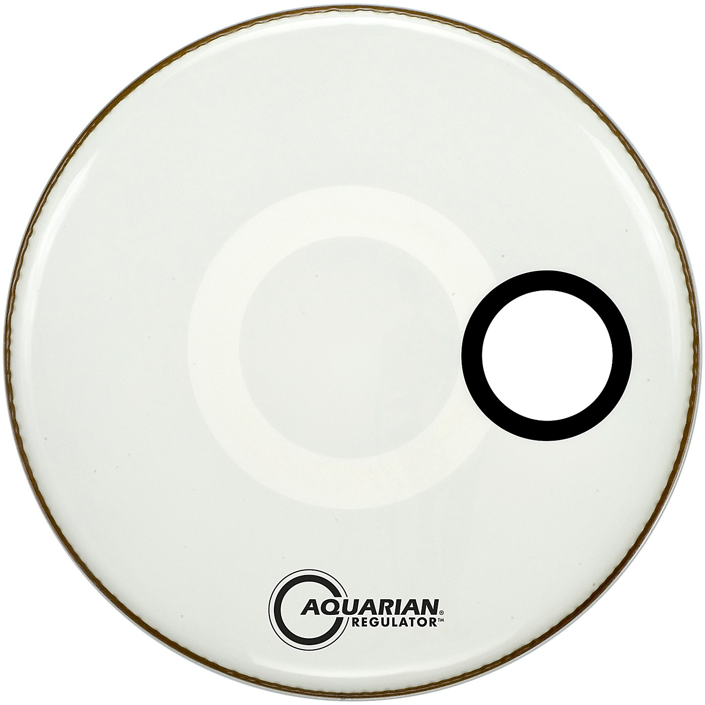 Aquarian Regulator Off-Set Hole Gloss White Bass Drum Head thumbnail