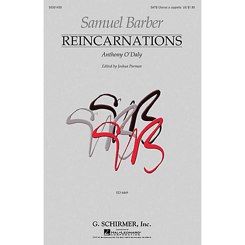 G. Schirmer Reincarnations - No. 2: Anthony O'Daly SATB a cappella by Samuel Barber edited by Joshua Parman thumbnail