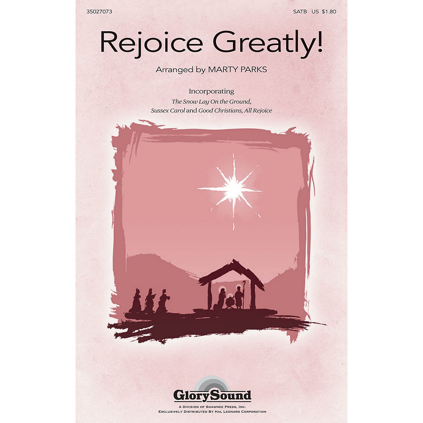 Shawnee Press Rejoice, Greatly! SATB arranged by Marty Parks thumbnail