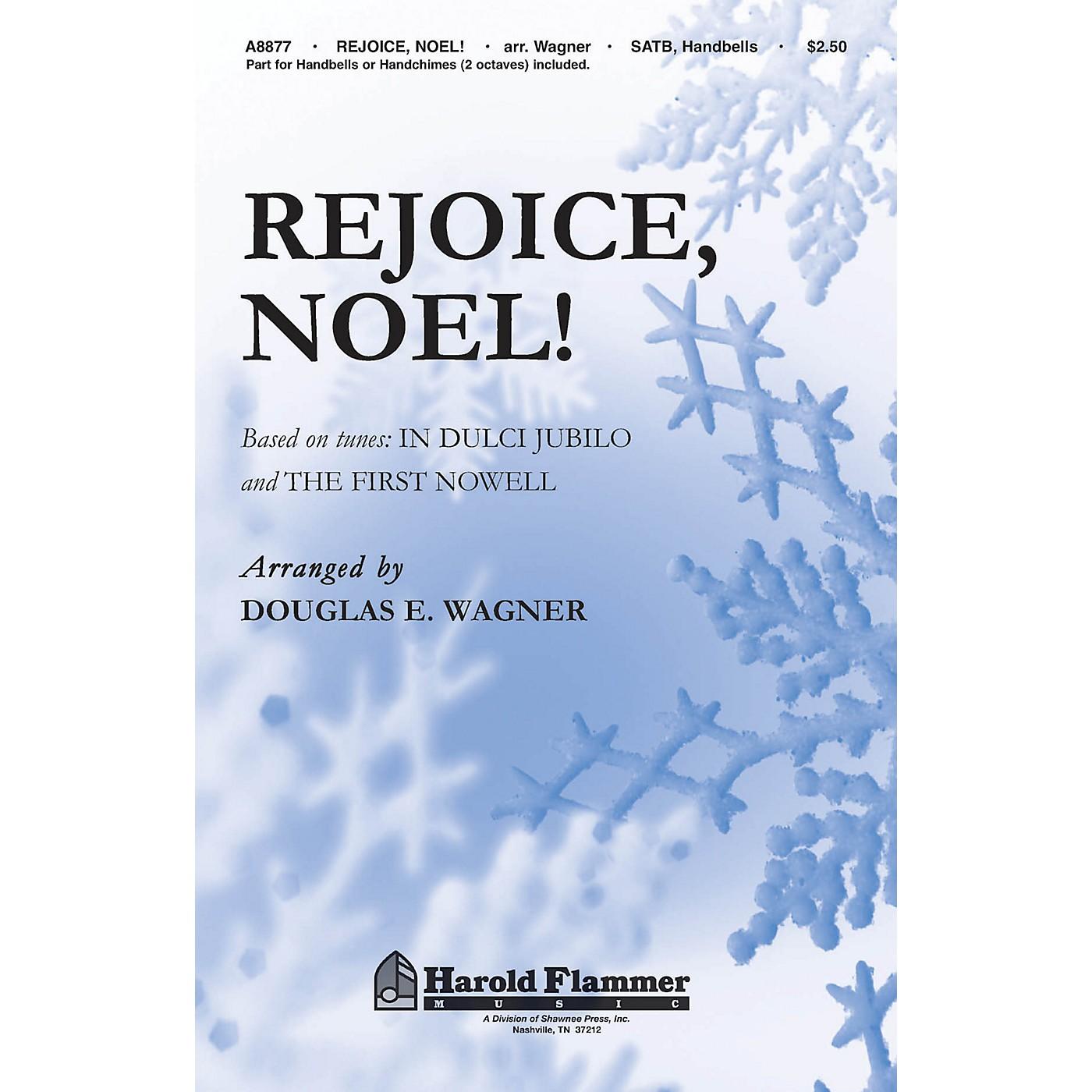 Shawnee Press Rejoice, Noel! (SATB with optional handbells or handchimes (2 octaves)) SATB, HANDBELLS by Douglas Wagner thumbnail