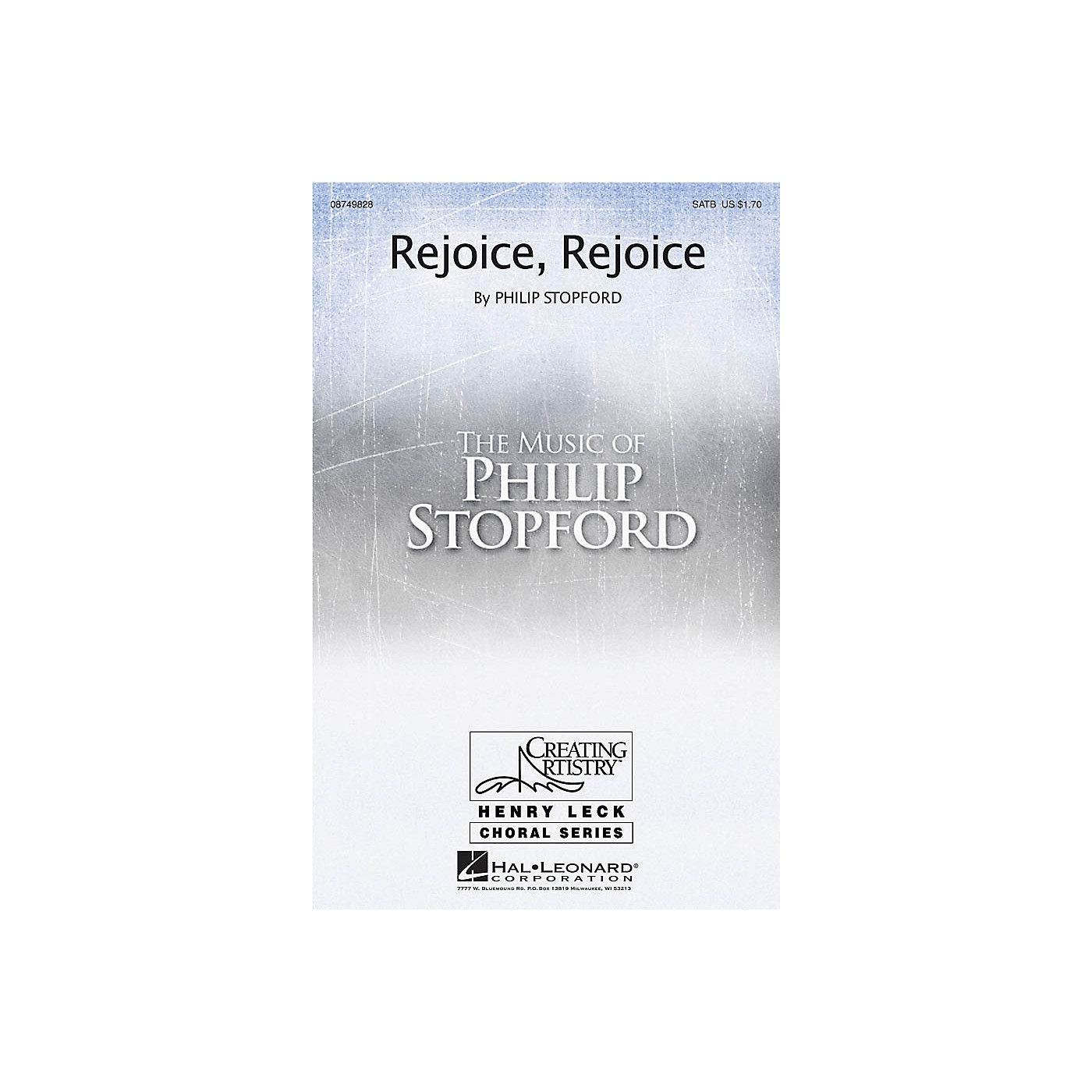 Hal Leonard Rejoice, Rejoice SATB composed by Philip Stopford thumbnail