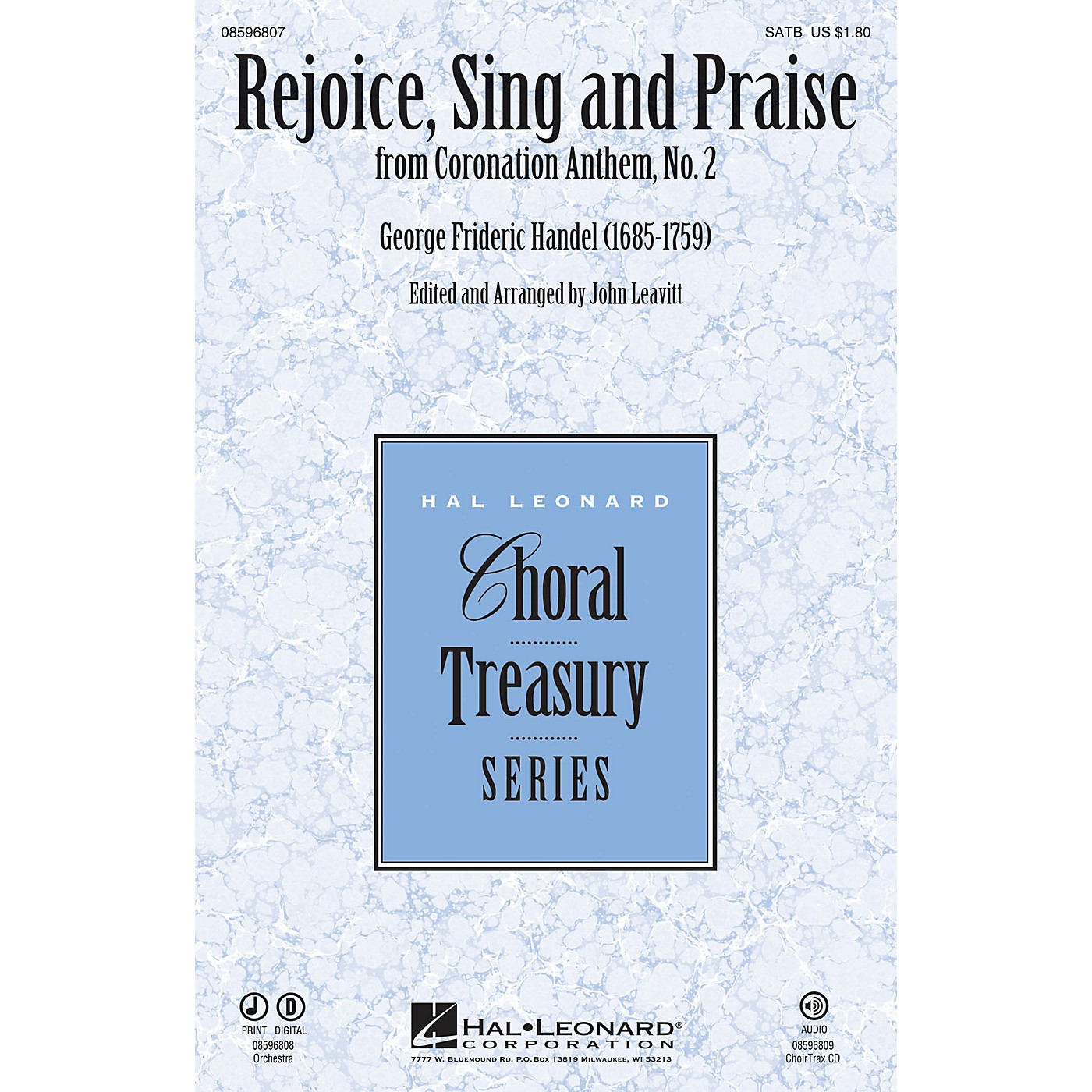 Hal Leonard Rejoice, Sing and Praise (from Coronation Anthem, No. 2) Chamber Orchestra Arranged by John Leavitt thumbnail