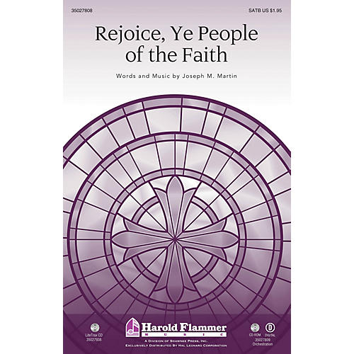 Shawnee Press Rejoice, Ye People of the Faith (Incorporating Rejoice, Ye Pure In Heart) SAB by Joseph M. Martin thumbnail