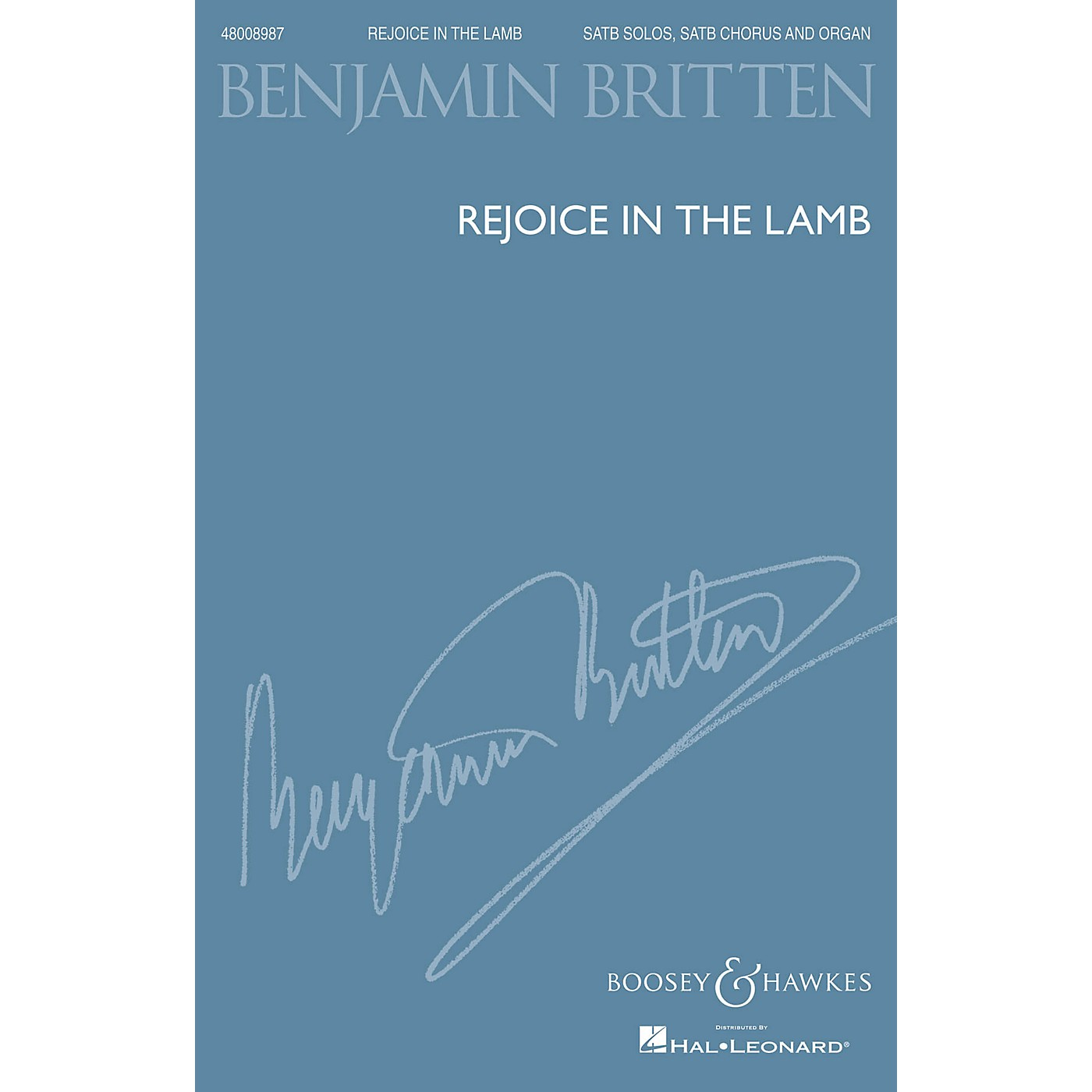 Boosey and Hawkes Rejoice in the Lamb, Op. 30 (1943) SATB composed by Benjamin Britten thumbnail