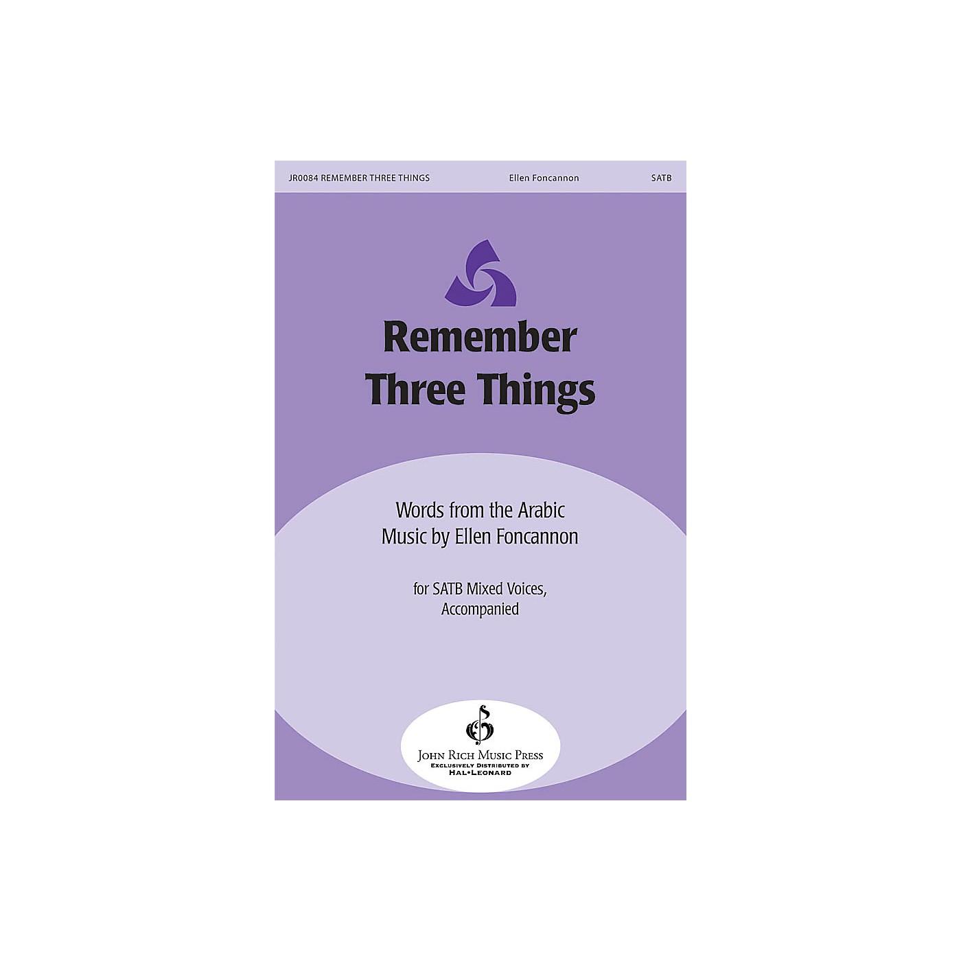 John Rich Music Press Remember Three Things SATB composed by Ellen Foncannon thumbnail