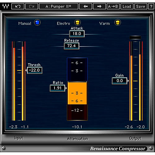 Waves Renaissance Compressor Native Software Plug-In Software Download thumbnail
