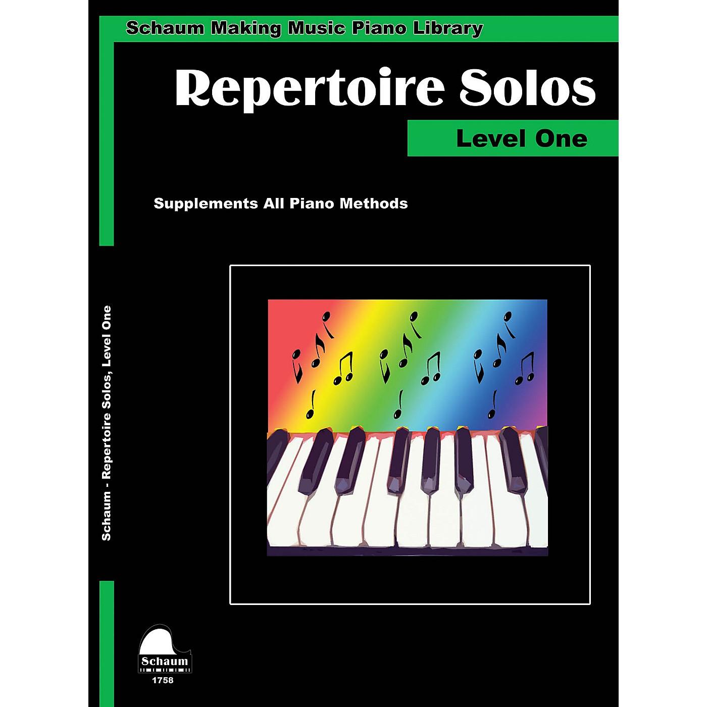 SCHAUM Repertoire Solos Level 1 Educational Piano Book by Wesley Schaum (Level Elem) thumbnail