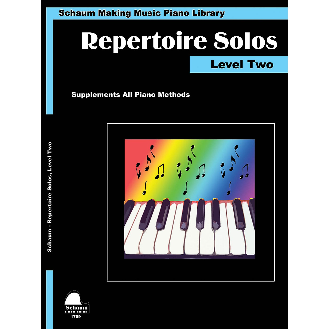 SCHAUM Repertoire Solos Level Two Educational Piano Book by Wesley Schaum (Level Late Elem) thumbnail