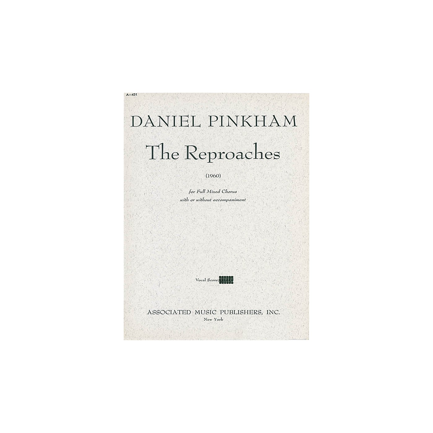 Associated Reproaches (1960) (SATB) SATB composed by Daniel Pinkham thumbnail