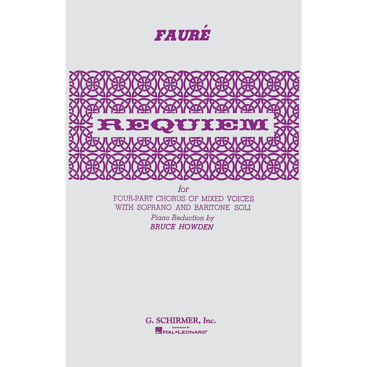 G. Schirmer Requiem SATB composed by Gabriel Faure thumbnail