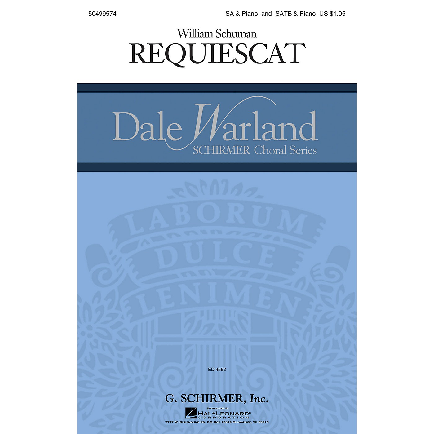 G. Schirmer Requiescat (Dale Warland Choral Series) SSAA composed by William Schuman thumbnail