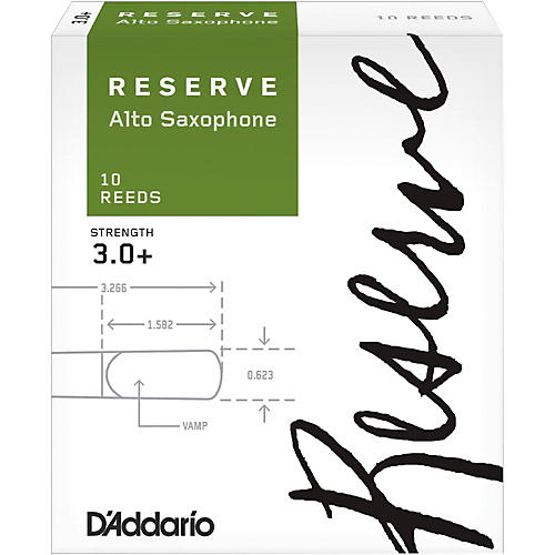D'Addario Woodwinds Reserve Alto Saxophone Reeds 10 Pack thumbnail