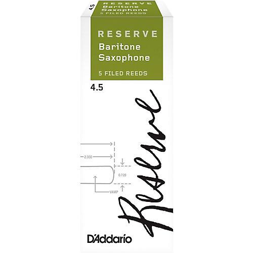 D'Addario Woodwinds Reserve Baritone Saxophone Reeds, 5-Pack thumbnail