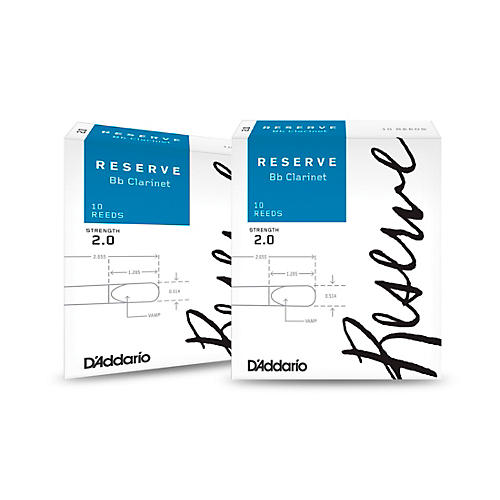 D'Addario Woodwinds Reserve Bb Clarinet Reeds 10-Pack, 2 Box Special thumbnail