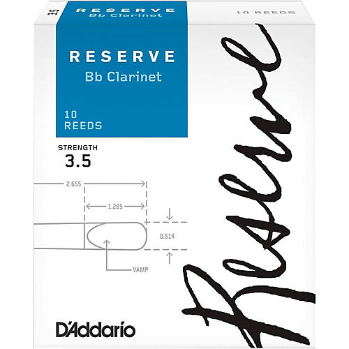 D'Addario Woodwinds Reserve Bb Clarinet Reeds 10-Pack thumbnail
