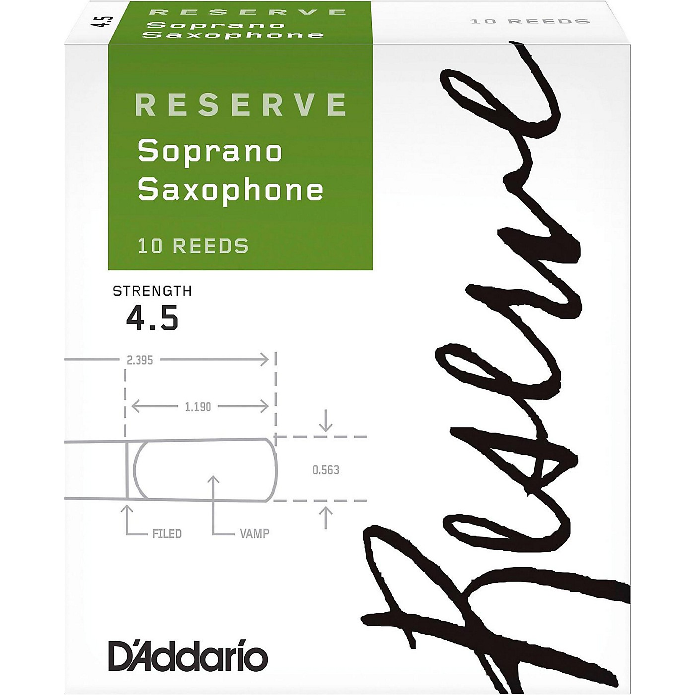 D'Addario Woodwinds Reserve Soprano Saxophone Reeds 10-Pack thumbnail