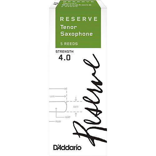 D'Addario Woodwinds Reserve Tenor Saxophone Reeds 5-Pack thumbnail