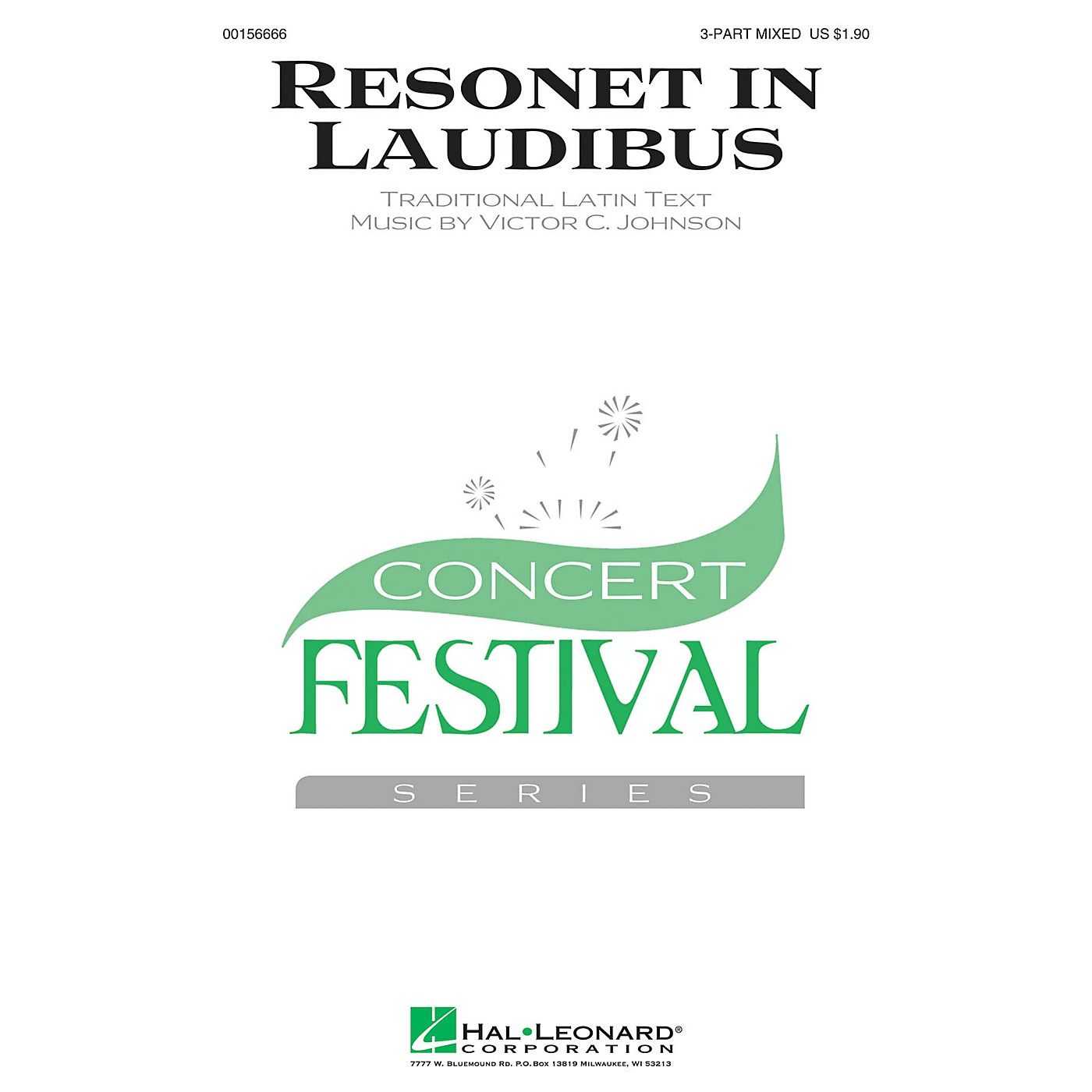 Hal Leonard Resonet in Laudibus 3-Part Mixed composed by Victor C. Johnson thumbnail