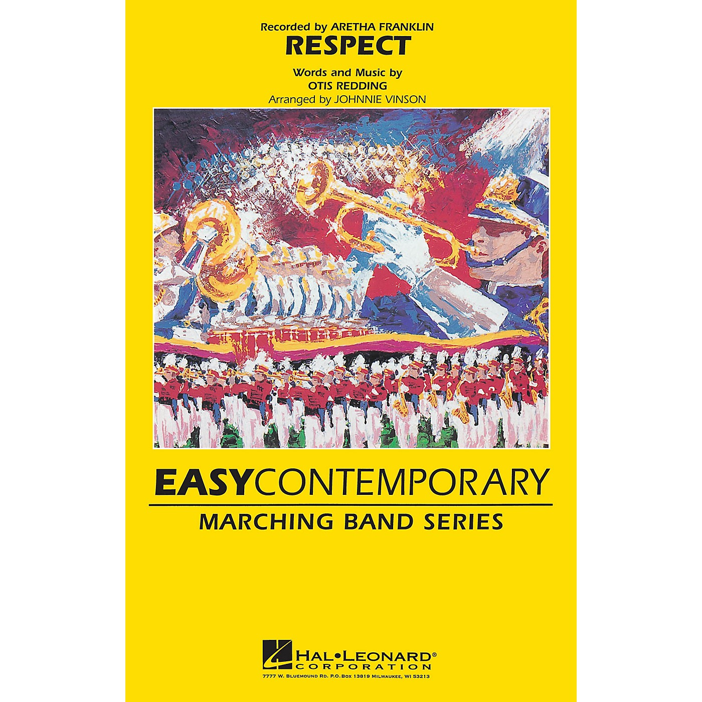 Hal Leonard Respect Marching Band Level 2-3 by Aretha Franklin Arranged by Johnnie Vinson thumbnail