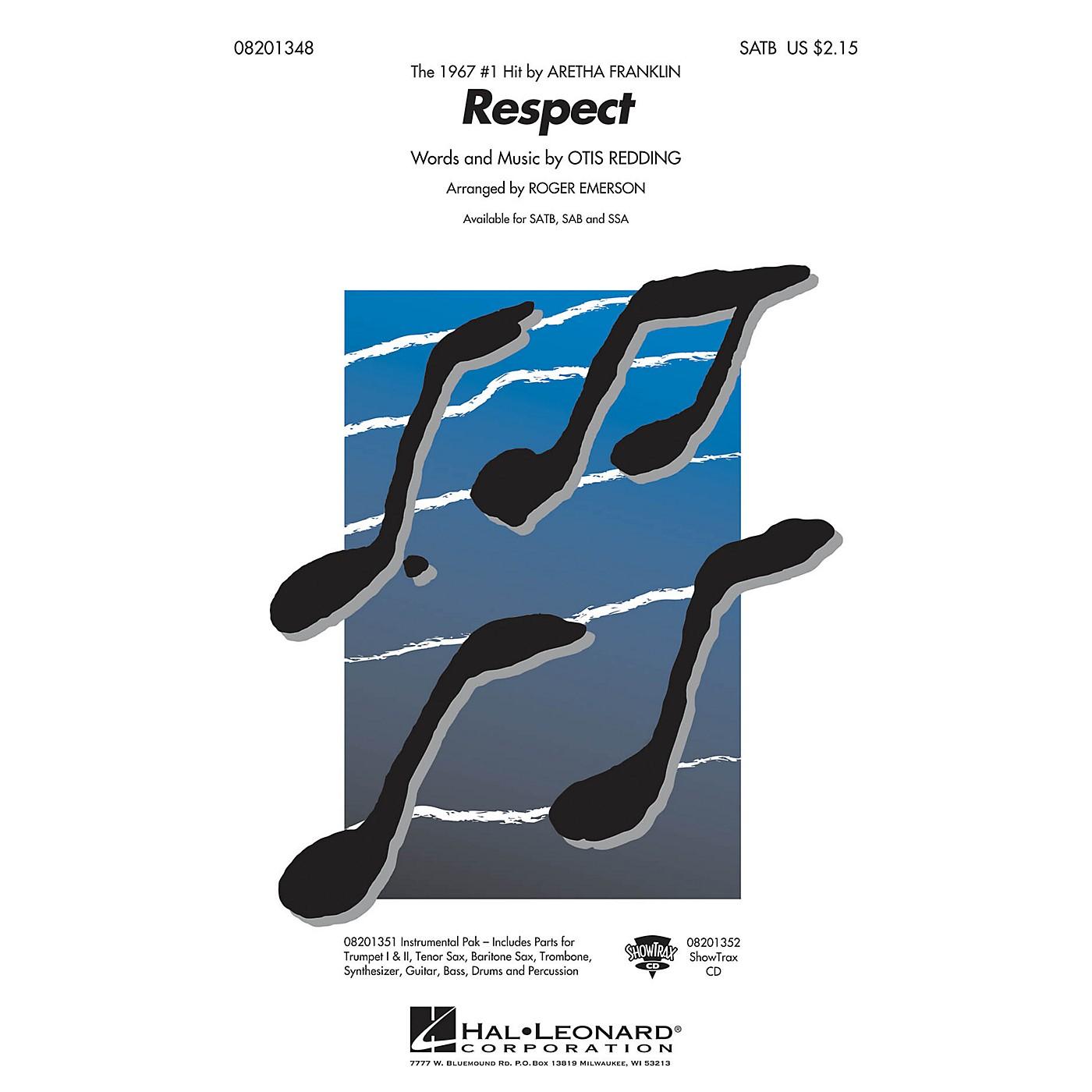 Hal Leonard Respect SATB by Aretha Franklin arranged by R Emerson thumbnail