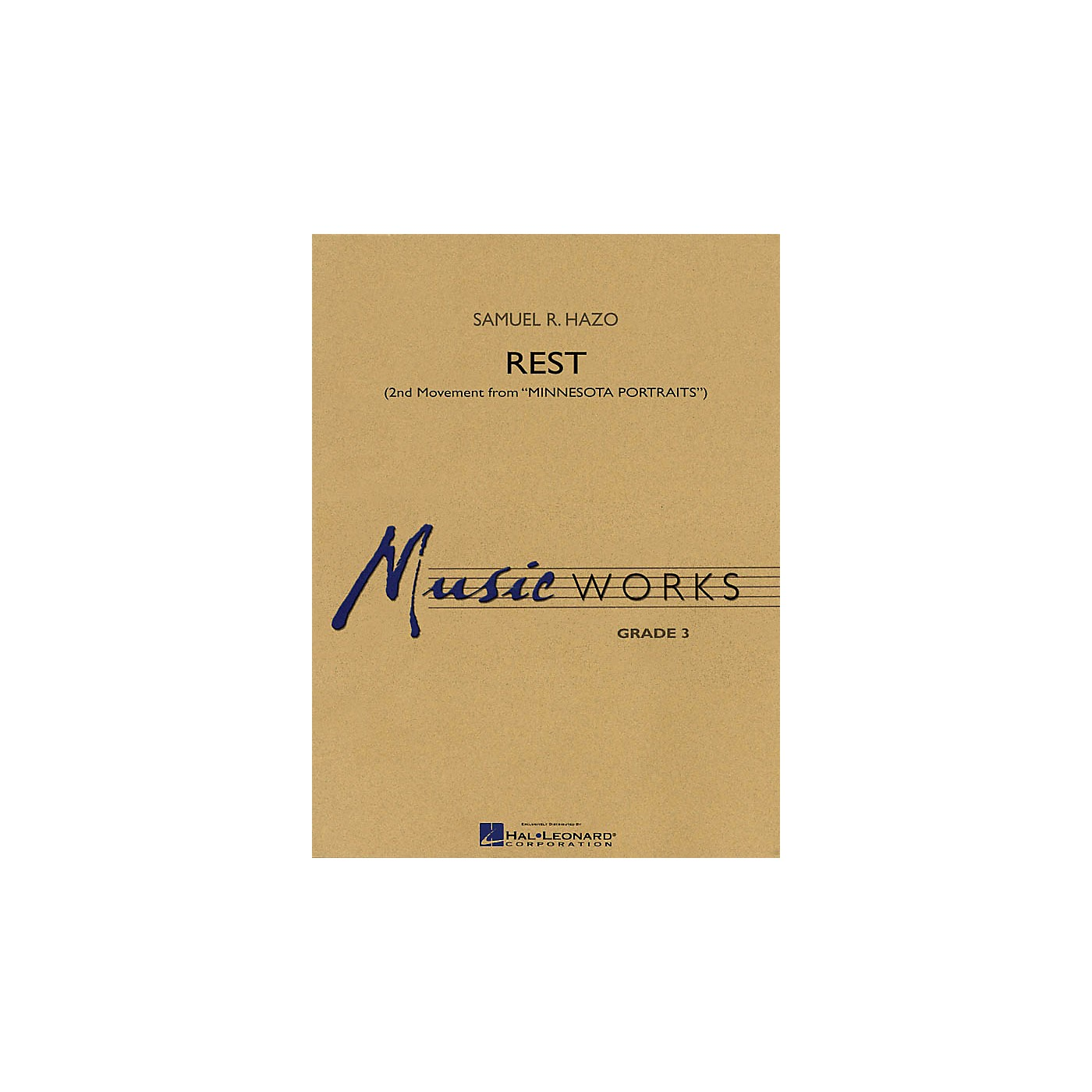 Hal Leonard Rest (2nd Movement from Minnesota Portraits) Concert Band Level 3 Composed by Samuel R. Hazo thumbnail
