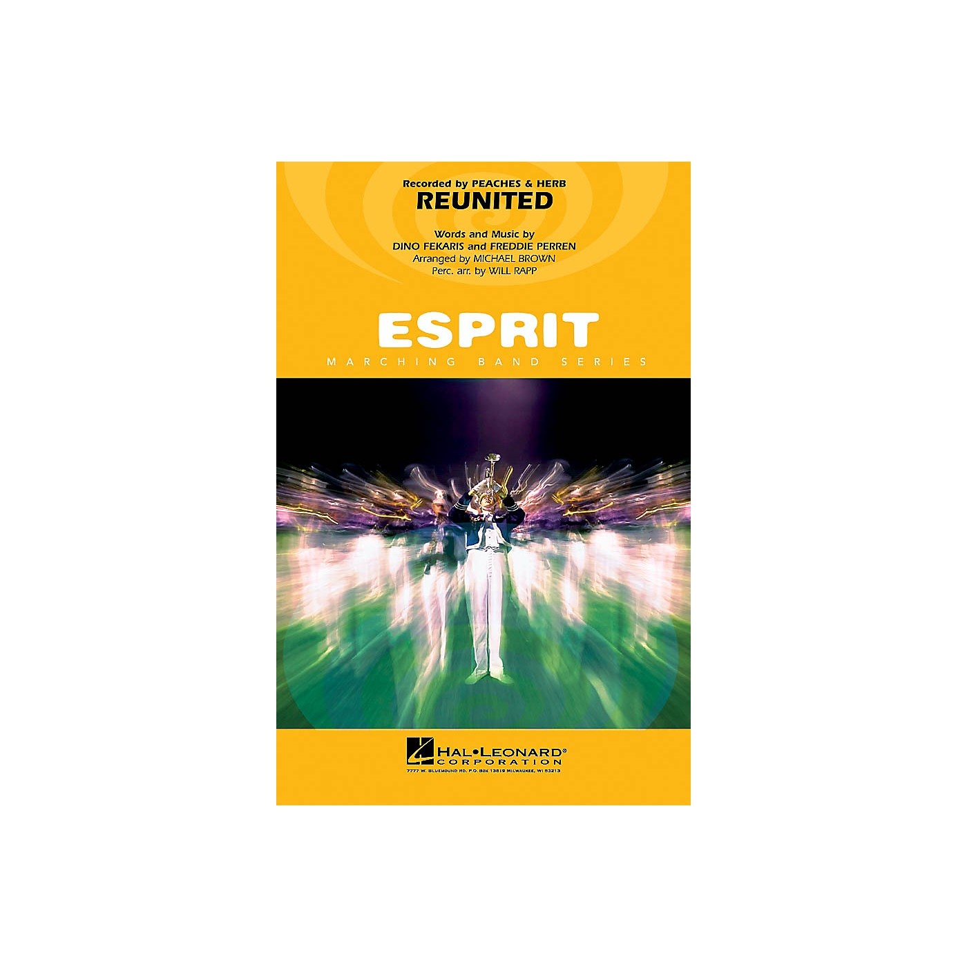 Hal Leonard Reunited Marching Band Level 3 by Peaches & Herb Arranged by Michael Brown thumbnail