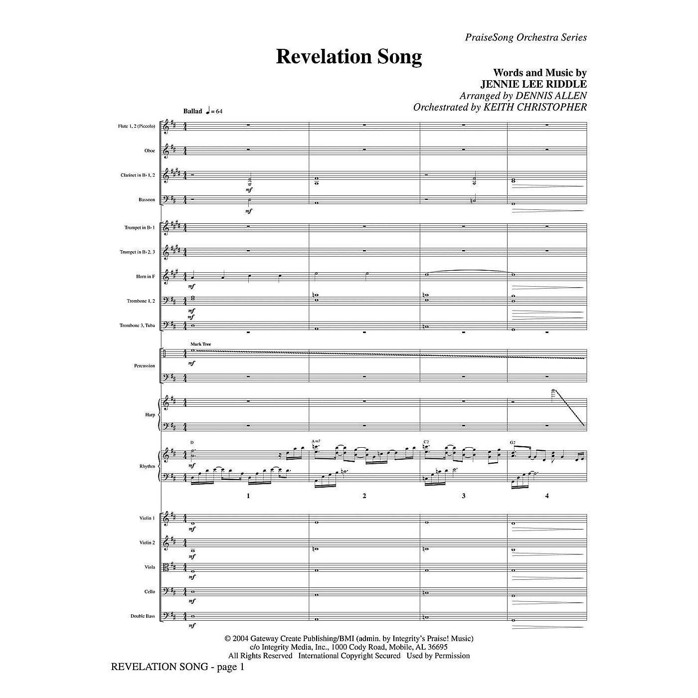 PraiseSong Revelation Song Orchestra arranged by Keith Christopher thumbnail
