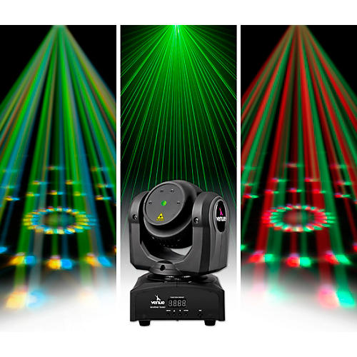 Venue Revolver Laser Dual-Sided Moving Head Effect Light with Laser and Moonflower thumbnail