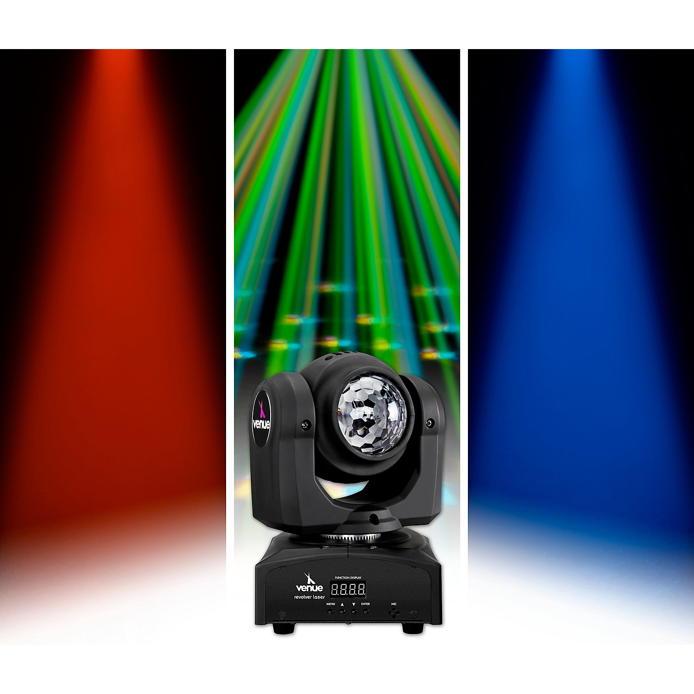 Venue Revolver Wash Dual-Sided Moving Head Effect Light with Wash and Moonflower thumbnail