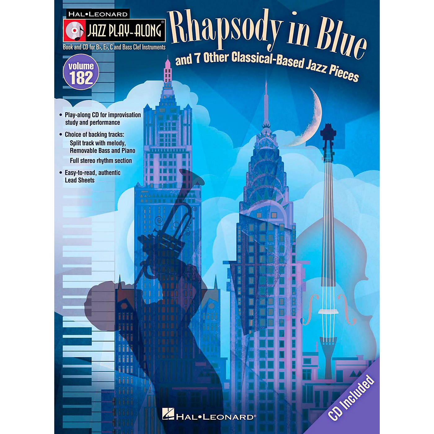 Hal Leonard Rhapsody In Blue & 7 Other Classical-Based Jazz Pieces - Jazz Play-Along 182 Book/CD thumbnail