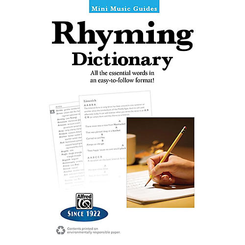 Alfred Rhyming Dictionary Mini Music Guides Book thumbnail